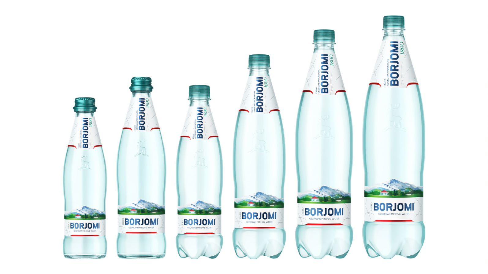Минеральная вода Borjomi новая упаковка